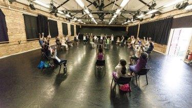 Participants take part in Dance for Parkinson's.