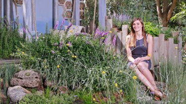 In her prize-winning '''boutique garden''' display, Emmaline Bowman made insects and animals feel at home.