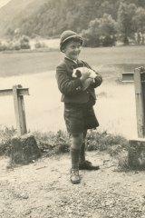 "Walter Glaser as a child. His family nickname was ""Igo""."