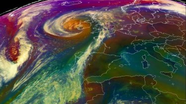 Tropical Storm Ophelia, which lashed Ireland on Monday, dragged tropical air and dust from the Sahara.
