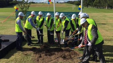 Korean dignitaries and local politicians were among those who attended the ground breaking ceremony for the memorial garden at Bressington Park on Friday.