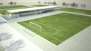 The plans for the State Football Centre in Ashfield