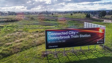 A high-speed rail link between Melbourne and Sydney would pass through Donnybrook, north of Melbourne.