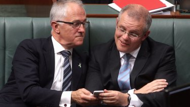 There has been tension between Malcolm Turnbull and Scott Morrison recently.