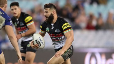 Blockbuster: Josh Mansour was impressive in his return match for the Panthers against the Bulldogs.