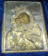 The framed image of the Virgin Mary stolen from the Red Hill church.