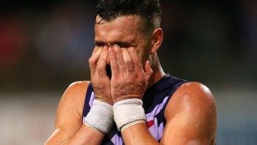 Suspended: Fremantle's Ryan Crowley.