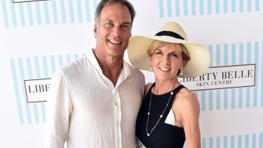 Taxpayers footed the bill: David Panton and Julie Bishop at the Portsea Polo in 2016.