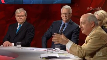 Alan Jones and Kevin Rudd found rare common ground on Q&A.