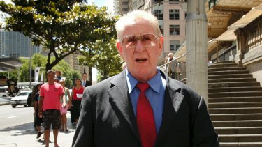 Brian Spillane leaves Sydney's Downing Centre courthouse in 2009.