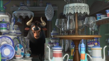 Uh oh: A bull in a china shop.