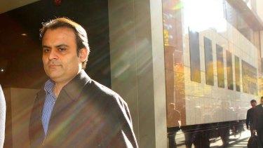 Indian tycoon Pankaj Oswal outside court.