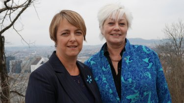 Weed killers: Former attorney-general Nicola Roxon has been meeting European campaigners such as Norwegian Cancer Society's Anne Lise Ryel about the push for plain paper packaging.