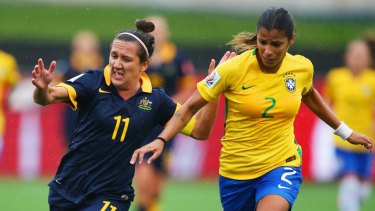 Matildas skipper Lisa De Vanna in action at last year's World Cup.