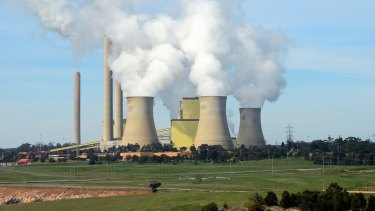 Steam billows from the cooling towers at the Loy Yang A coal-fired power station in Victoria, operated by AGL.