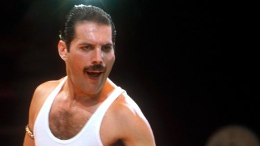 Freddie Mercury from the band Queen .