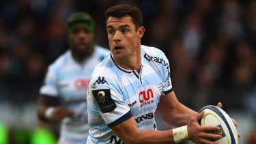 Another victory: Dan Carter led Racing Metro to a famous victory over Toulon in front of a record crowd.