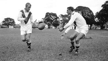 St George stars Reg Gasnier and Johnny Raper in 1961.
