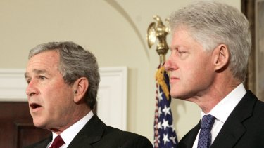 Bill Clinton (right) proposed a tax increase on the wealthy, which was followed by one of the greatest periods of prosperity in American history. Then George W. Bush (left) came along and pushed the opposite policies, which had invariably produced calamity in the past.