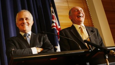 Malcolm Turnbull and Nationals leader Warren Truss.