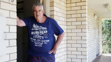 """Martin Pearce at home in Little Bay. He says hepatitis C has """"gradually reduced me to almost nothing."""""""