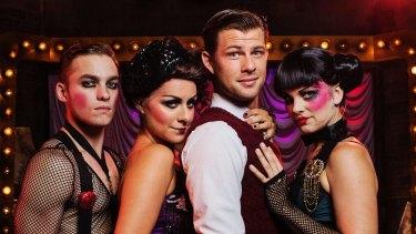 Matthew Manahan, Michelle Barr, Jason Kos and Michelle Smitheram in <i>Cabaret</i>.