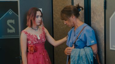 Mother-daughter relationship: Saoirse Ronan and Laurie Metcalf go dress shopping in <i>Lady Bird</i>.