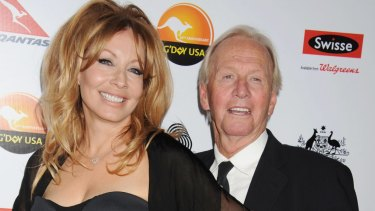 Linda Kozlowski and Paul Hogan at the 2013 G'Day USA black tie gala in LA, nine months before they split.