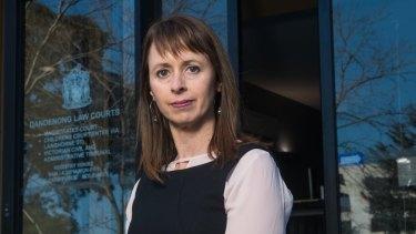 Elissa Scott, regional managing lawyer, Dandenong, Victoria Legal Aid at Dandenong Magistrates' Court.