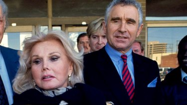 The late Zsa Zsa Gabor with her husband, Frederick von Anhalt, in 1993.