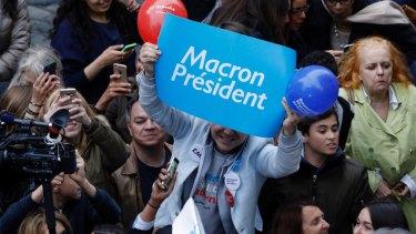 Parisians react Emmanuel Macron react the win.
