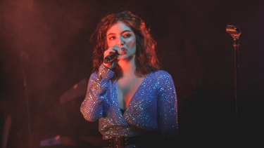 Lorde in Nova's Red Room.