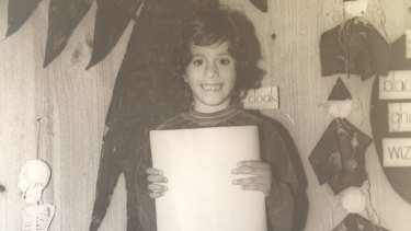 Ruby Hamad, age 7, came to Sydney in 1977 with her Lebanese and Syrian parents.