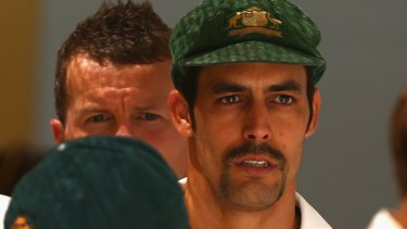 Missing mojo: Mitchell Johnson has struggled to find his spark in Perth.
