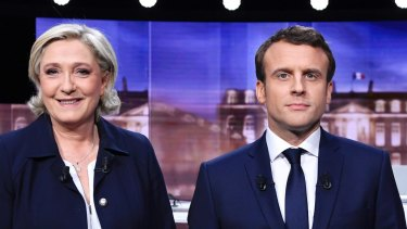 Marine Le Pen and Emmanuel Macron faced off in a televised debate on Wednesday.