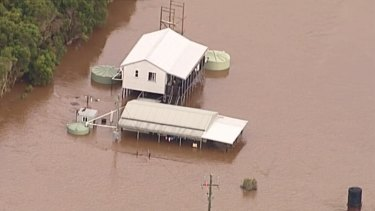 Areas of the Gold Coast were inundated as the severe weather system that hammered Brisbane on Saturday moved south.