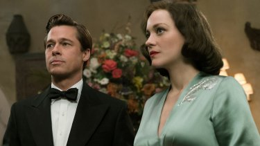 Brad Pitt and Marion Cotillard star in the upcoming film <i>Allied</i>.