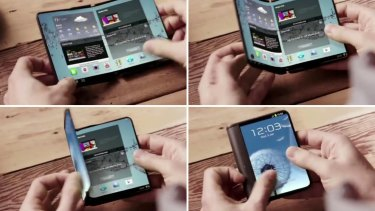Samsung has previously made - but not sold - foldable concept phones.