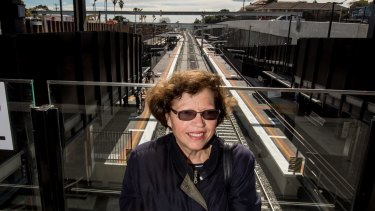 Bentleigh resident Giota Tzimourtas was impressed with the new station.