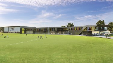 An artist's impression of the Eagles' new home at Lathlain Park.