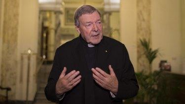 Cardinal George Pell, speaking in Italy last year.