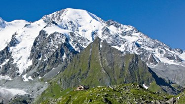The remains of a couple who went missing in 1942 in the region of Valais (pictured here) in the Swiss Alps are believed to have been found on a shrinking glacier.