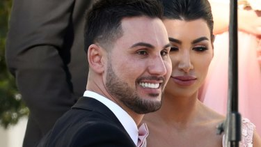 Salim Mehajer and Constance Siaflas attend Kat Mehajer's wedding.