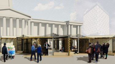 Patricia Magistrado design for King George Square as part of Plus Architecture design competition