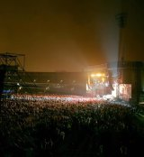 A crowd of 25,000 watched on as Fleetwood Mac played in the pouring rain at Domain Stadium.