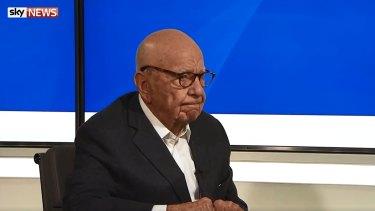 Rupert Murdoch drew criticism following his comments downplaying Fox's harassment scandal.