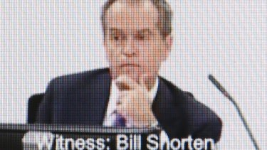 Opposition Leader Bill Shorten at the royal commission into unions in July 2015.