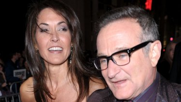 "Robin Williams's widow Susan said her husband was ""drowning in his symptoms""."