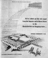 """The ground-breaking shopping centre was described as """"an island of retailing in a lake of parking"""" on this promotional poster."""