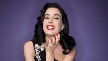 Press finishes the page with a visit to burlesque star Dita Von Teese's two-room wardrobe.